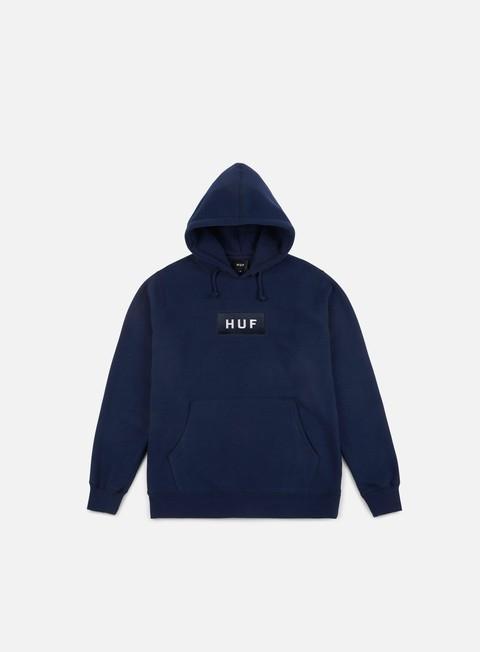 felpe huf bar logo pullover hoodie navy