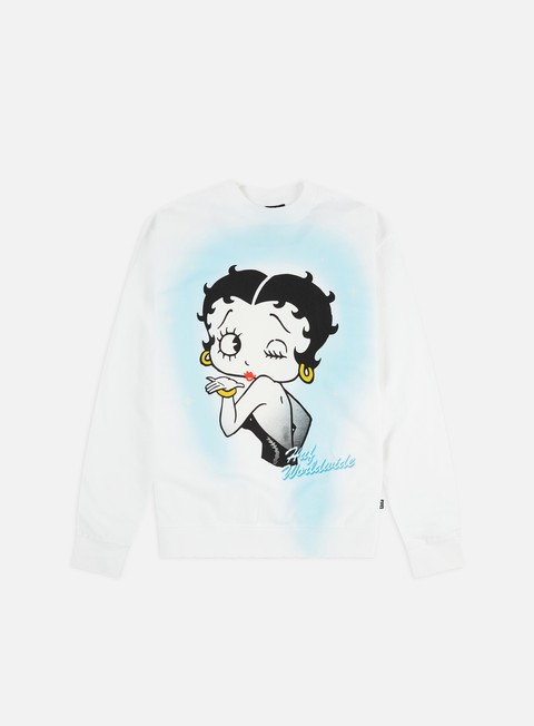 Outlet e Saldi Felpe Girocollo Huf Betty Boop Air Brush Crewneck