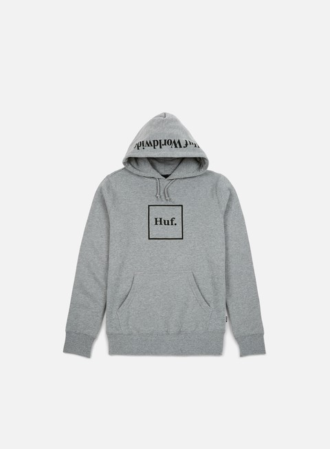 felpe huf box logo hoodie 2 grey heather