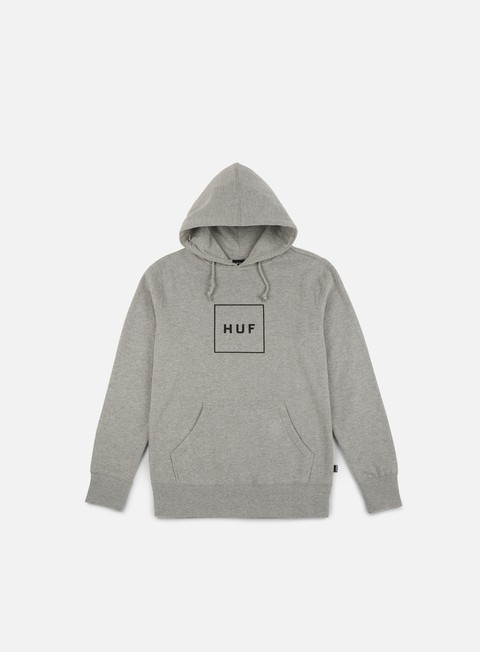 felpe huf box logo hoodie grey heather