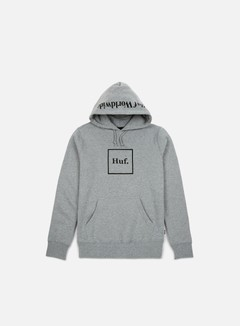 Huf - Box Logo Hoodie, Grey Heather