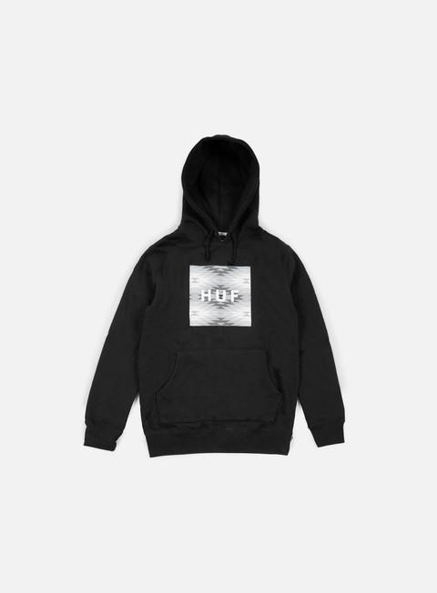 felpe huf cabazon box logo hoodie black
