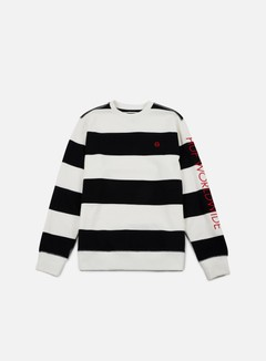 Huf - Catalina Stripe Crewneck, Black 1