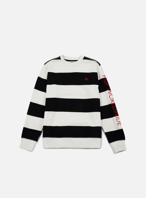 felpe huf catalina stripe crewneck black