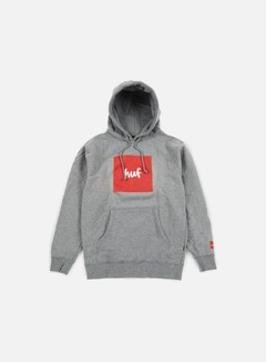 Huf - Chocolate Box Logo Hoodie, Grey Heather 1