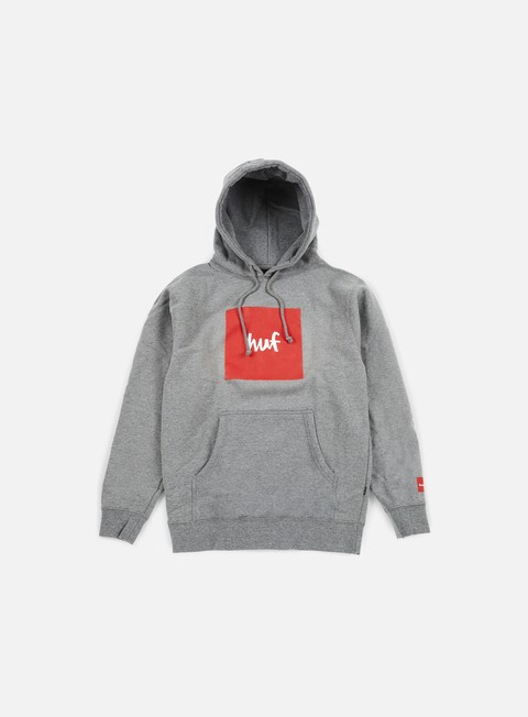 felpe huf chocolate box logo hoodie grey heather
