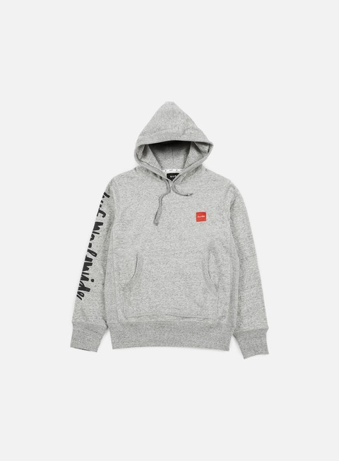 felpe huf chocolate chunk worldwide hoodie grey heather