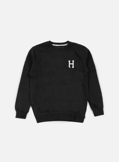 felpe huf classic h crewneck black