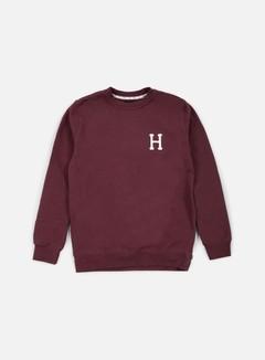 Huf - Classic H Crewneck, Wine 1