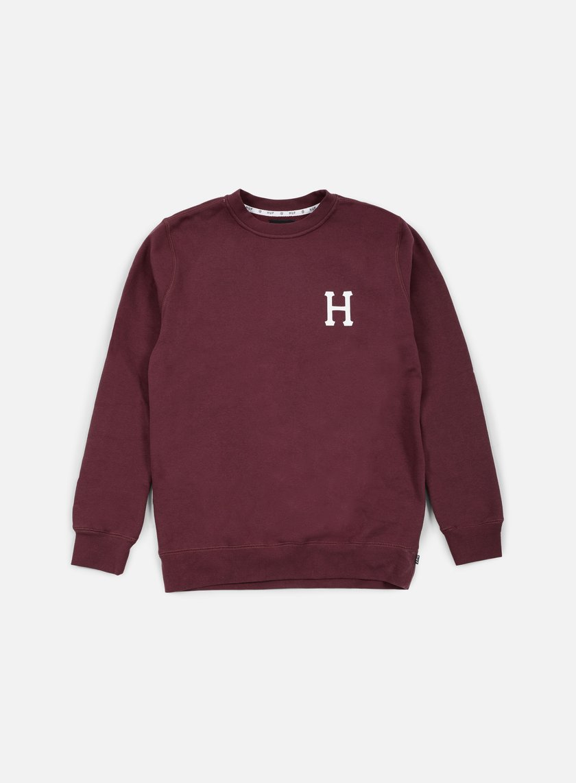 Huf - Classic H Crewneck, Wine