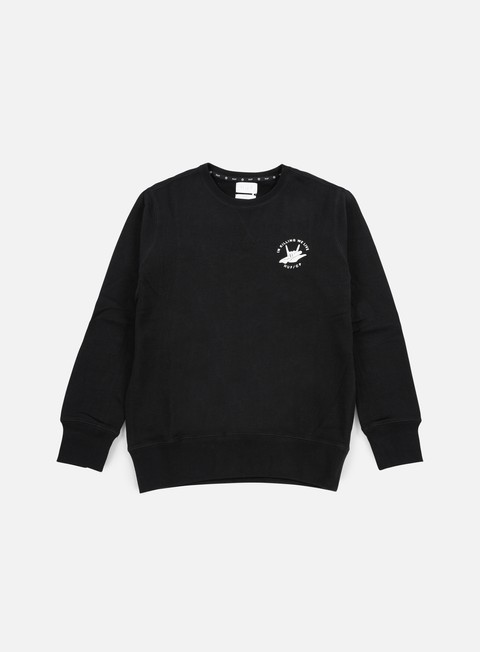felpe huf cleon crewneck black