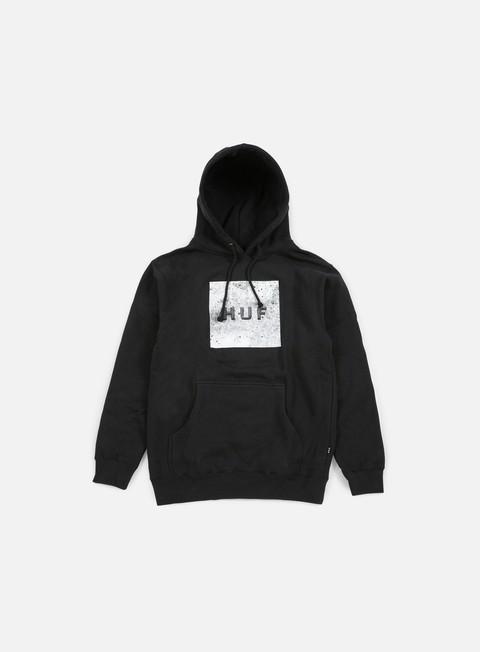 felpe huf concrete box logo hoodie black