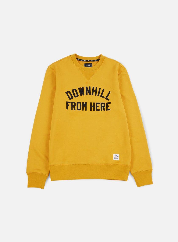 Huf - DFH Crewneck, Mustard