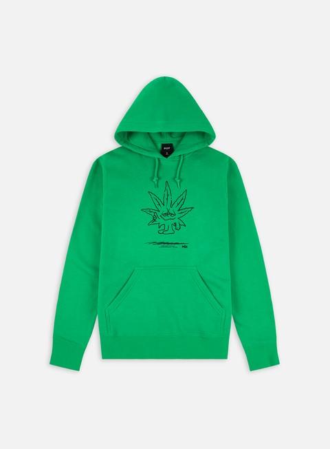Felpe con Cappuccio Huf Easy Green Hoodie