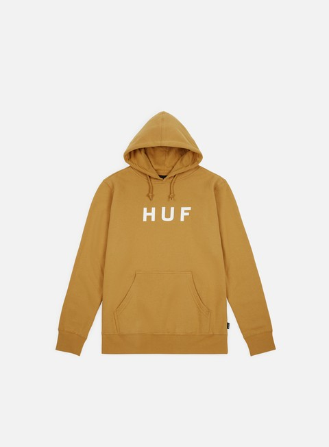 felpe huf essentials og logo hoodie honey mustard