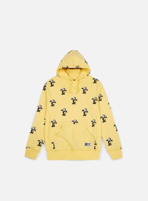 felpe huf felix allover print pullover hoodie banana