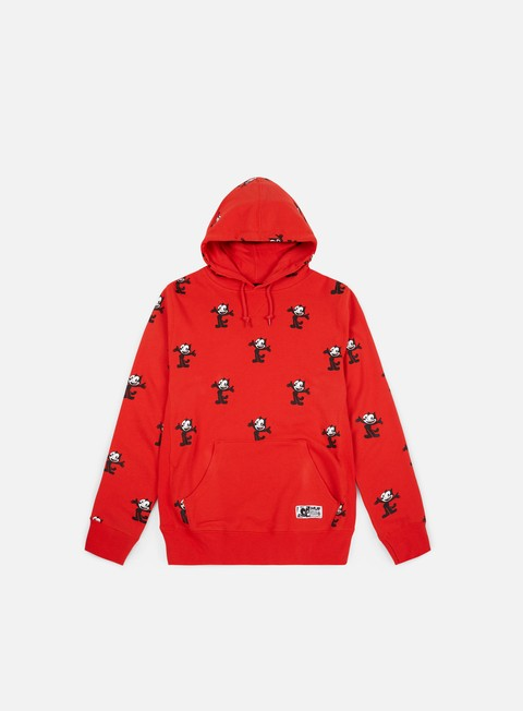 felpe huf felix allover print pullover hoodie red