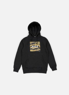 Huf - Golden Camo Stripe Box Logo Hoodie, Black 1