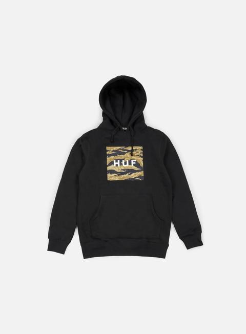 Outlet e Saldi Felpe con Cappuccio Huf Golden Camo Stripe Box Logo Hoodie