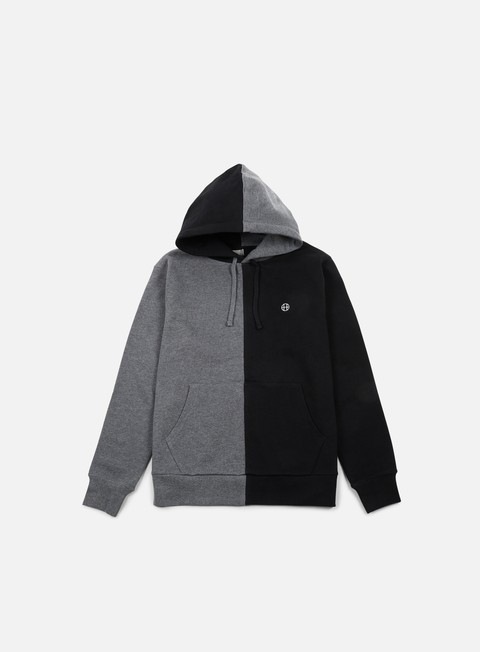 felpe huf henry hoodie black charcoal heather