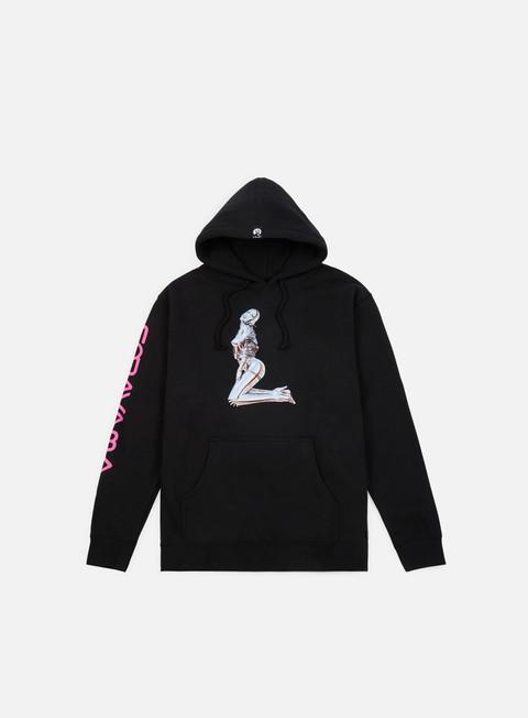felpe huf huf x sorayama hoodie black