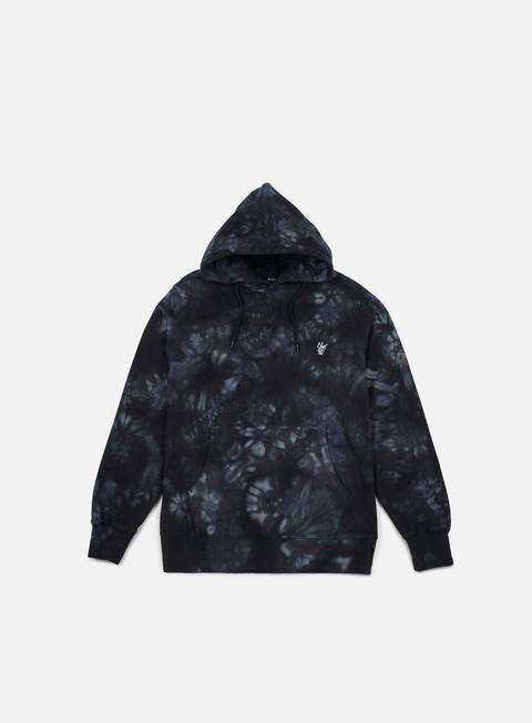 felpe huf leary tie dye hoodie black