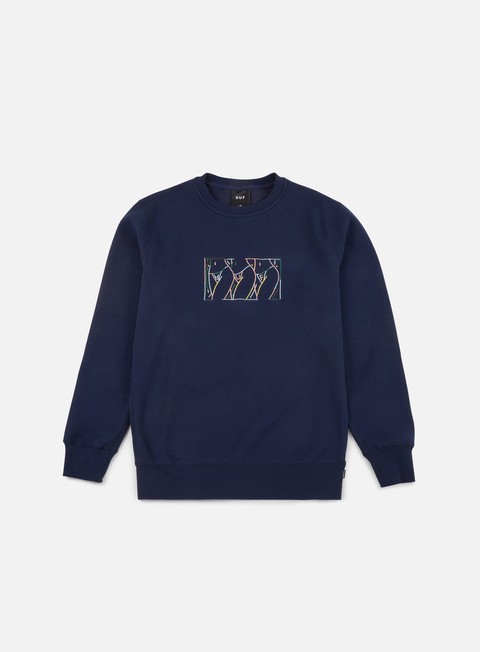 felpe huf malibu fleece crewneck navy