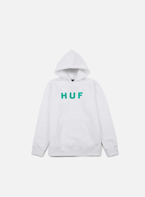 felpe huf og logo hoodie white