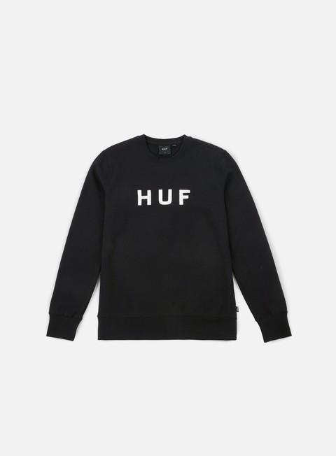 felpe huf original logo crewneck black