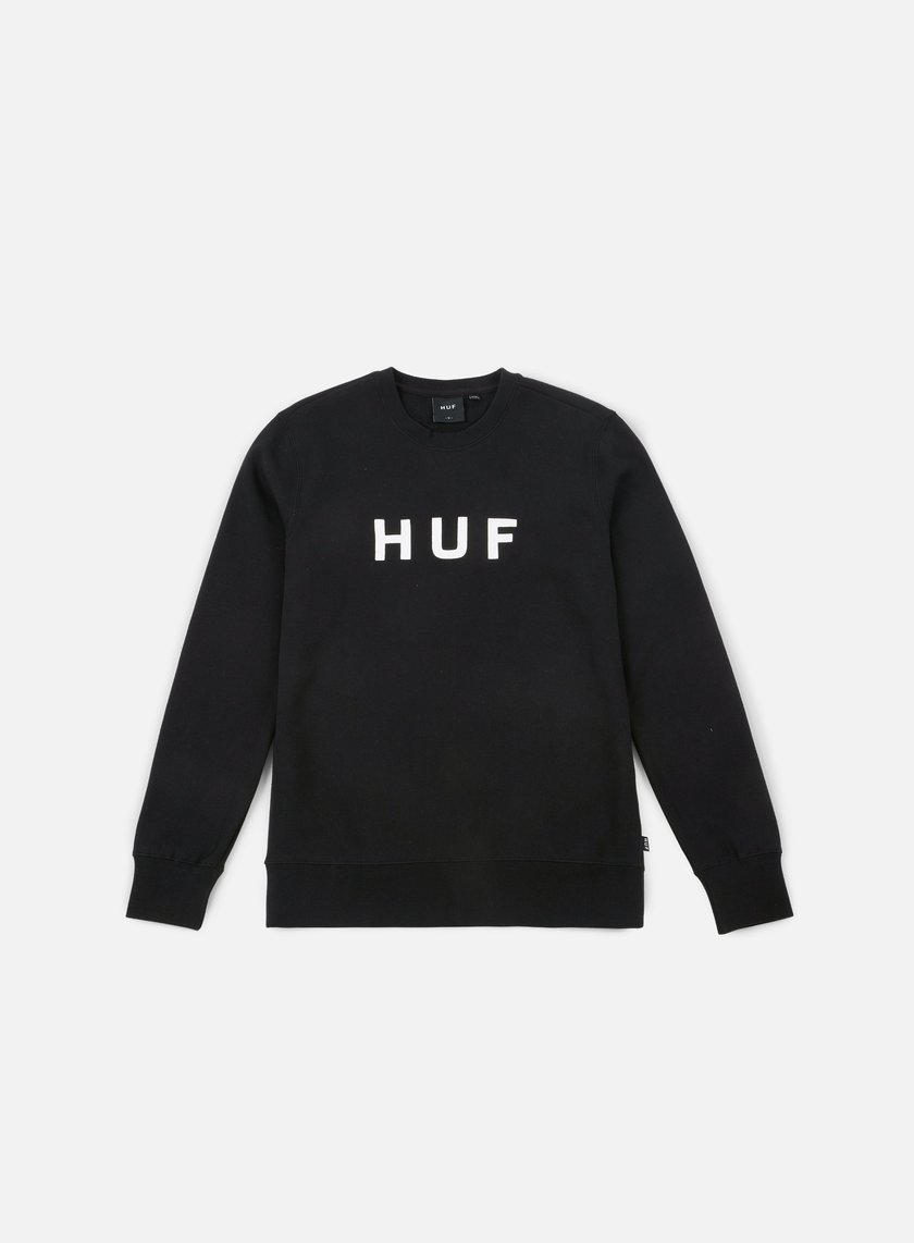 Huf - Original Logo Crewneck, Black