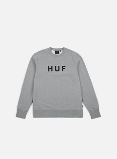 Huf - Original Logo Crewneck, Grey Heather 1