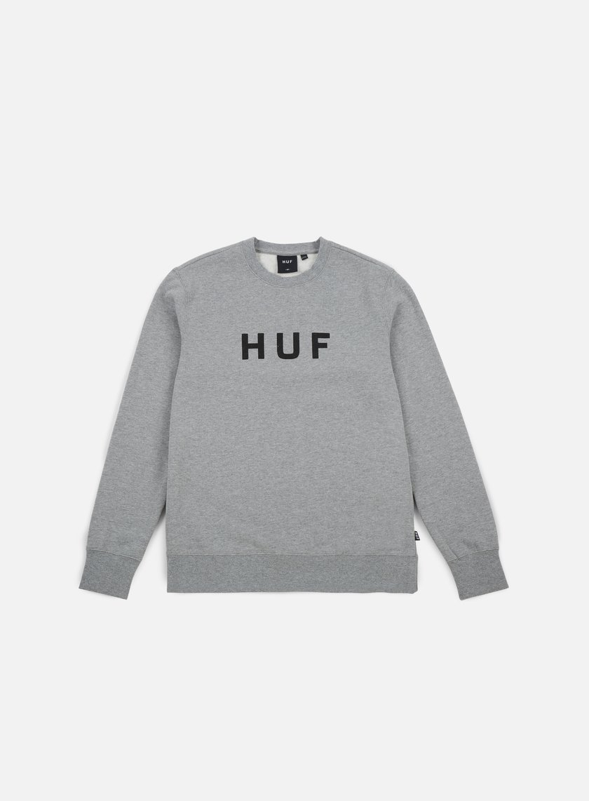 Huf - Original Logo Crewneck, Grey Heather