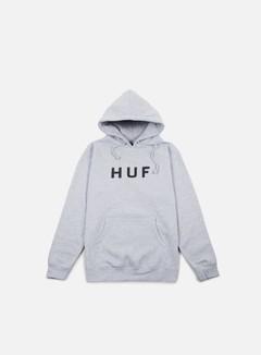 Huf - Original Logo Hoodie, Light Grey Heather/Black