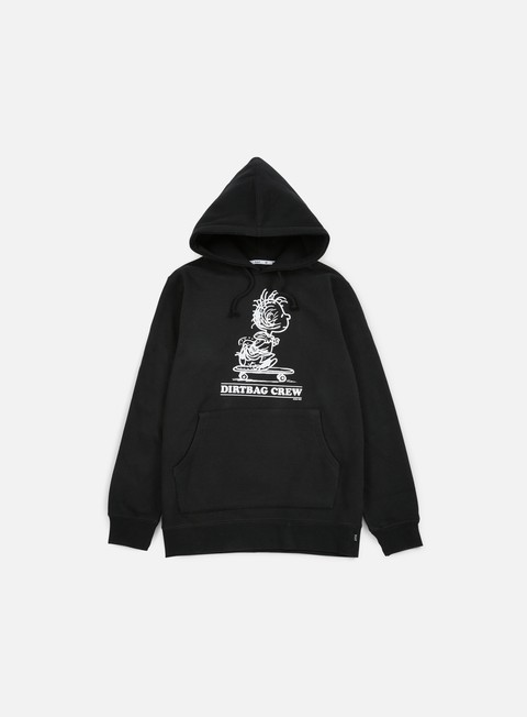 felpe huf peanuts pigpen hoodie black