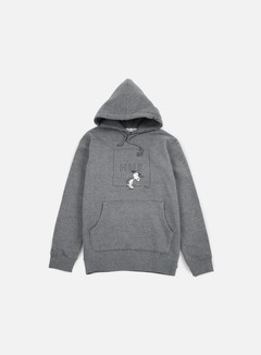 Huf - Peanuts Snoopy Box Logo Hoodie, Grey Heather 1
