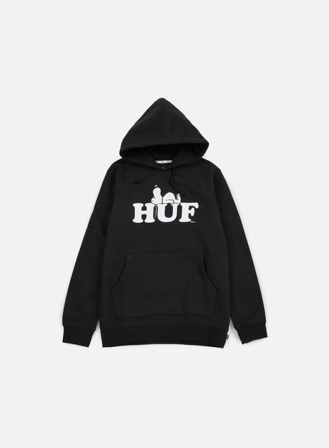 felpe huf peanuts snoopy hoodie black