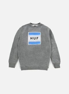 Huf - Poster Box Logo Crewneck, Grey Heather 1