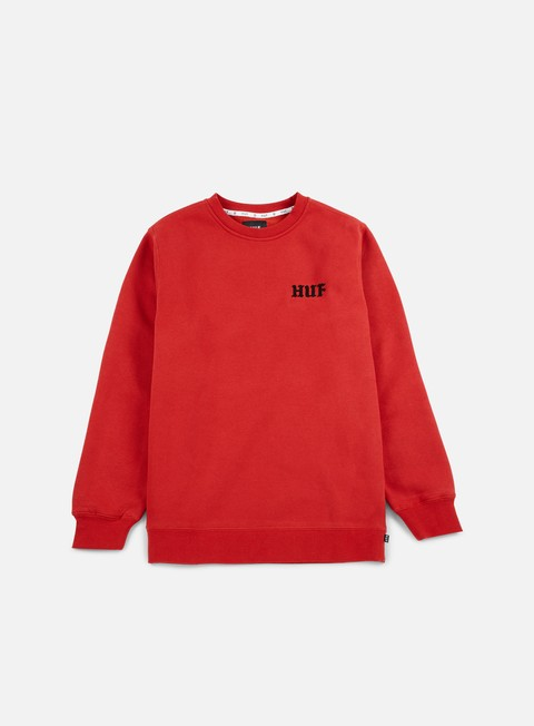 felpe huf rockers crewneck red