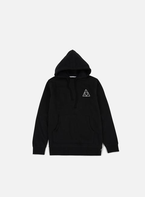 felpe huf roses triple triangle hoodie black