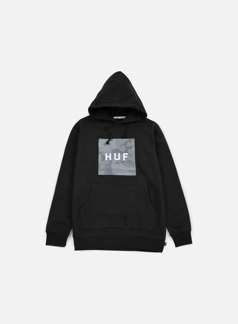 felpe huf street ops box logo hoodie black
