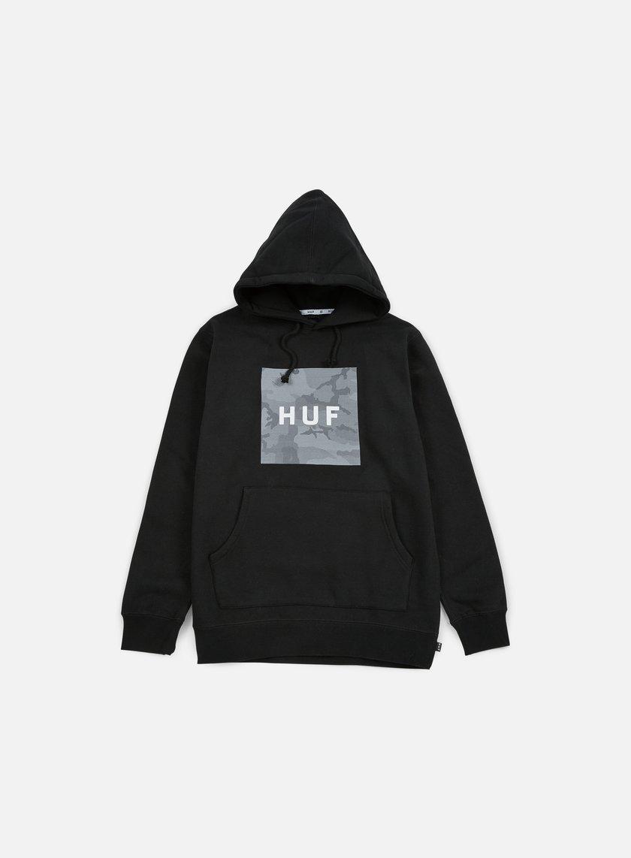 Huf - Street Ops Box Logo Hoodie, Black