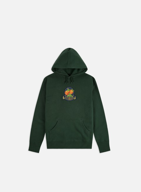 Hooded Sweatshirts Huf Tenderloin Rose Crest Hoodie
