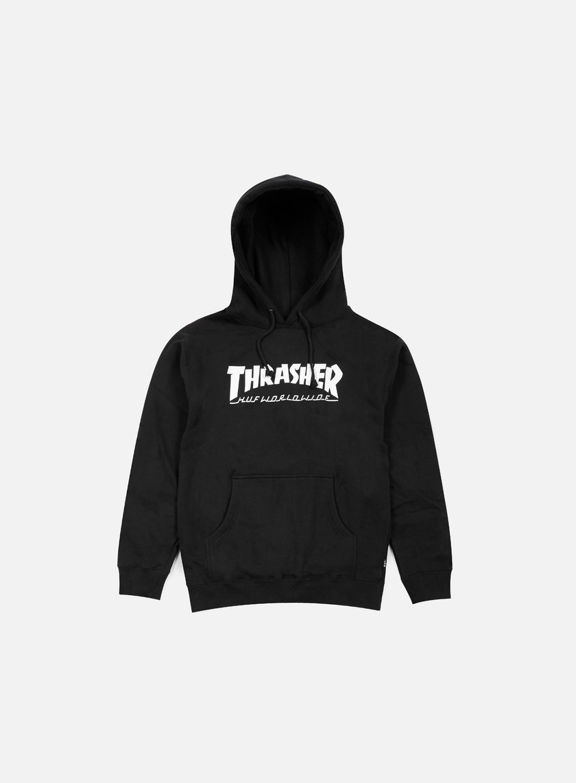 Huf - Thrasher Classic H Hoodie, Black