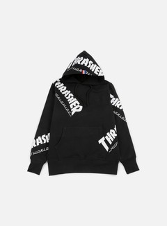Huf - Thrasher TDS All Over Hoodie, Black 1