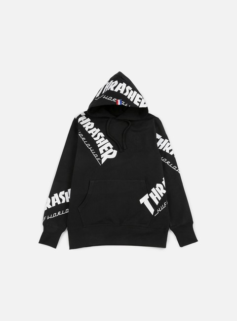felpe huf thrasher tds all over hoodie black
