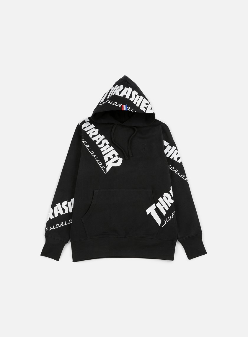 Huf - Thrasher TDS All Over Hoodie, Black