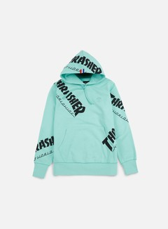 Huf - Thrasher TDS All Over Hoodie, Mint 1