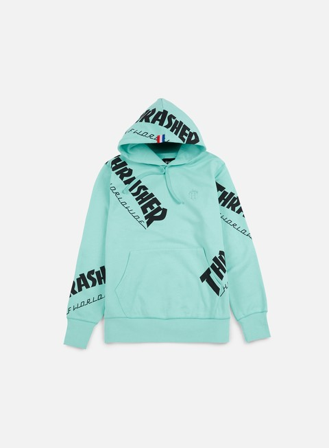 felpe huf thrasher tds all over hoodie mint