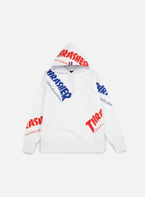felpe huf thrasher tds all over hoodie white