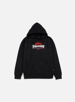 Huf - Thrasher TDS Hoodie, Black 1